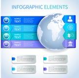 Elementi di carta astratti di infographics di affari Fotografie Stock Libere da Diritti