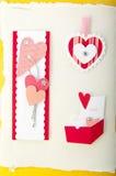 Elementi di carta per la scheda o la scarto-prenotazione Fotografia Stock
