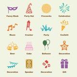 Elementi di celebrazione illustrazione vettoriale