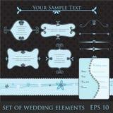 Elementi di cerimonia nuziale Fotografia Stock