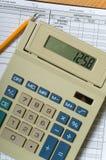 Elementi di contabilità di affari Immagine Stock