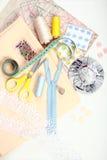 Elementi di cucito Fotografia Stock