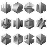 elementi di disegno 3D illustrazione vettoriale