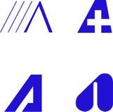 Elementi di disegno - alfabeto A Fotografia Stock Libera da Diritti