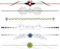 Elementi di disegno del blocco per grafici del bordo Fotografia Stock