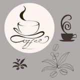 Elementi di disegno del caffè Immagine Stock Libera da Diritti