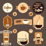 Elementi di disegno del caffè dell'annata Fotografia Stock