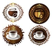 Elementi di disegno del caffè. illustrazione di vettore Immagine Stock