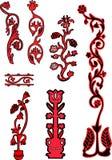Elementi di disegno del fiore Immagini Stock