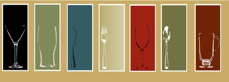 Elementi di disegno del menu Fotografia Stock Libera da Diritti