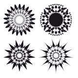 Elementi di disegno del tatuaggio dell'ornamento dello Spirograph Fotografia Stock