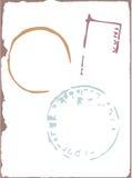 Elementi di disegno dell'affrancatura dal vettore Fotografia Stock