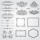 Elementi di disegno dell'annata Immagine Stock
