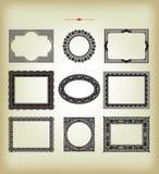 Elementi di disegno dell'annata di vettore Fotografia Stock