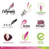 Elementi di disegno dell'icona Immagine Stock Libera da Diritti