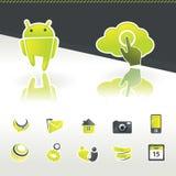 Elementi di disegno dell'icona royalty illustrazione gratis