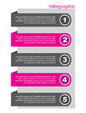 Elementi di disegno dell'insegna di Infographic Fotografia Stock