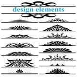 Elementi di disegno della decorazione della pagina Fotografia Stock