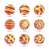 Elementi di disegno della sfera Fotografia Stock