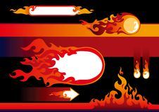 Elementi di disegno delle fiamme Fotografia Stock