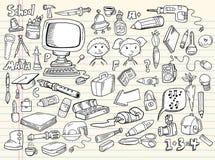 Elementi di disegno di abbozzo di Doodle Fotografia Stock