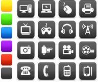 Elementi di disegno di comunicazione e di tecnologia Fotografia Stock Libera da Diritti