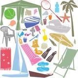 Elementi di disegno di estate Fotografia Stock Libera da Diritti