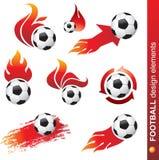 Elementi di disegno di gioco del calcio illustrazione di stock
