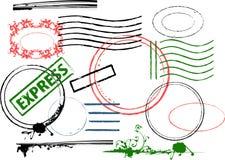 Elementi di disegno di Grunge. Fotografia Stock