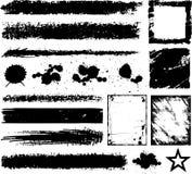 Elementi di disegno di Grunge illustrazione di stock