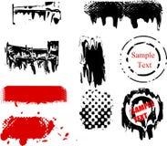Elementi di disegno di Grunge Fotografie Stock Libere da Diritti