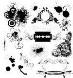 Elementi di disegno di Grunge Fotografia Stock
