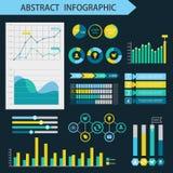 Elementi di disegno di Infographic Concetto della pagina di presentazione Fotografia Stock Libera da Diritti