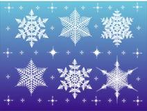 Elementi di disegno di inverno Fotografie Stock Libere da Diritti