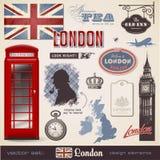 Elementi di disegno di Londra Fotografia Stock Libera da Diritti