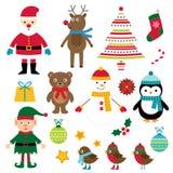 Elementi di disegno di Natale Fotografia Stock Libera da Diritti