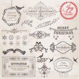 Elementi di disegno di Natale Immagini Stock