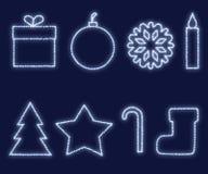 Elementi di disegno di natale e di nuovo anno illustrazione di stock