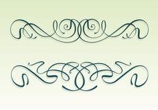 Elementi di disegno di nouveau di arte Immagine Stock