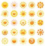Elementi di disegno di Sun Immagini Stock Libere da Diritti