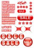 Elementi di disegno di vendita Immagine Stock