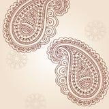 Elementi di disegno di vettore di Doodle di Mehndi Paisley del hennè royalty illustrazione gratis