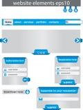 Elementi di disegno di Web. Fotografie Stock
