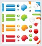 Elementi di disegno di Web Immagine Stock