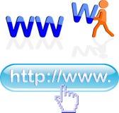 Elementi di disegno di WWW Fotografia Stock