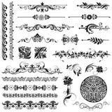 Elementi di disegno e decorazione della pagina Immagine Stock Libera da Diritti