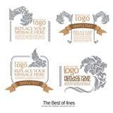 Elementi di disegno e decorazione calligrafici della pagina Fotografia Stock Libera da Diritti