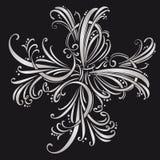 Elementi di disegno e decorazione calligrafici della pagina Insieme di vettore Fotografie Stock Libere da Diritti