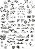Elementi di disegno e del Celtic Fotografie Stock