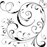 Elementi di disegno floreale Fotografie Stock